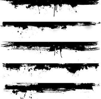 Elementos detalhados do grunge ideais para uso como beiras