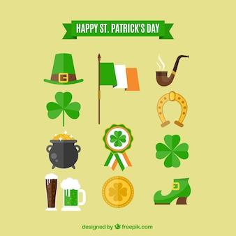 Elementos Dia de Saint Patrick feliz