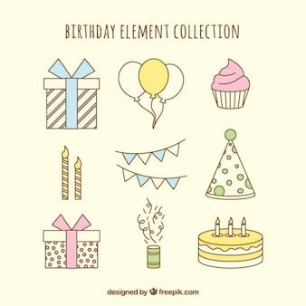 Elementos do aniversário collectio