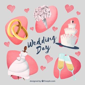 Elementos do casamento da mulher