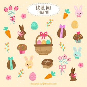 Elementos do dia de Páscoa
