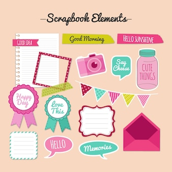 Elementos do scrapbook do vintage