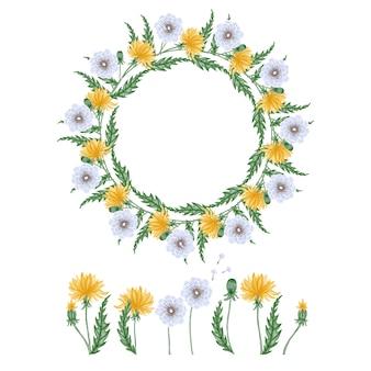 Elementos florais decorativos