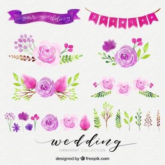 Elementos florais do casamento