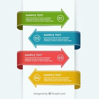 Elementos infográficos das setas