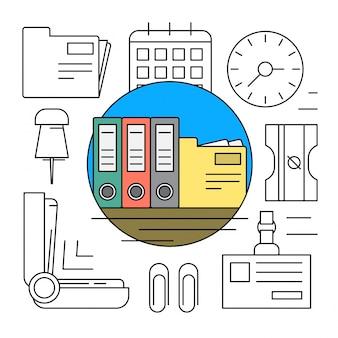 Elementos Lineares de Escritório
