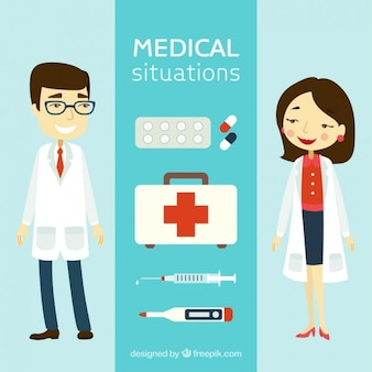 Elementos médicos e personagens