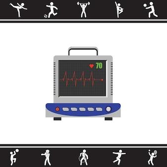 Eletrocardiograma. ECG. ilustração vetorial