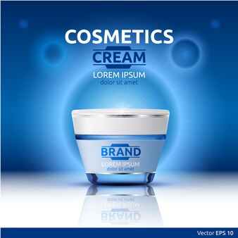 Embalagem cosmética realista