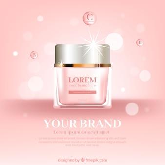 Embalagem de cosméticos rosa