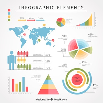 Embalagem plana com ótimos elementos infográficos