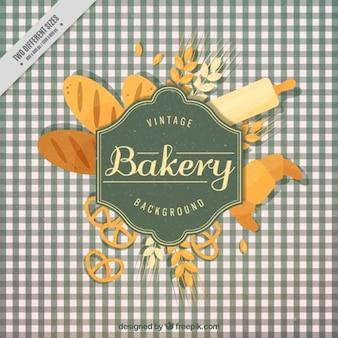 emblema da padaria do vintage