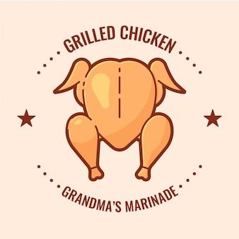 Emblema de frango grelhado