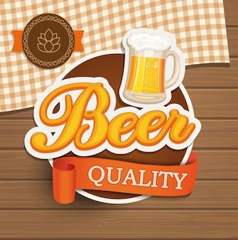 Emblema de qualidade da cerveja.