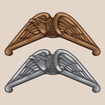 Emblema Vintage Eagle