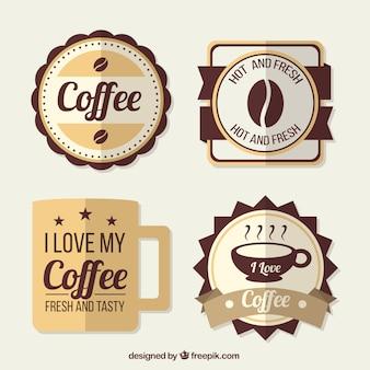 Emblemas agradável café no estilo retro