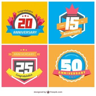 emblemas aniversário