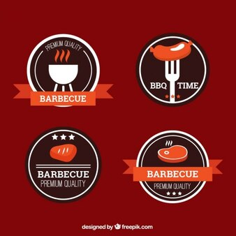 emblemas churrasco Colorido
