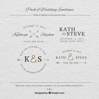 emblemas de casamento
