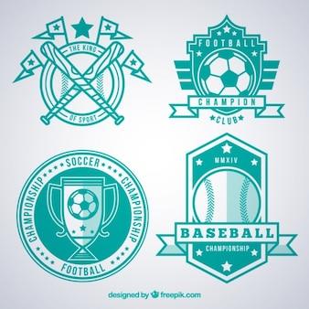 Emblemas desportivos turquesa