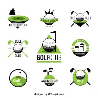 Emblemas do clube de golfe
