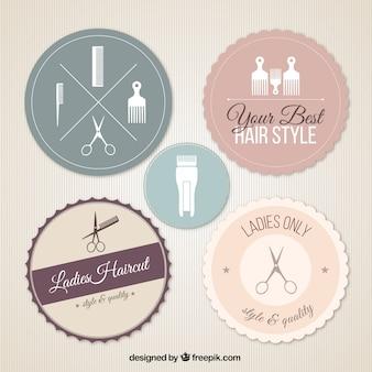 Emblemas do salão de beleza