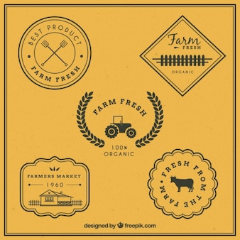 emblemas do vintage para fazenda