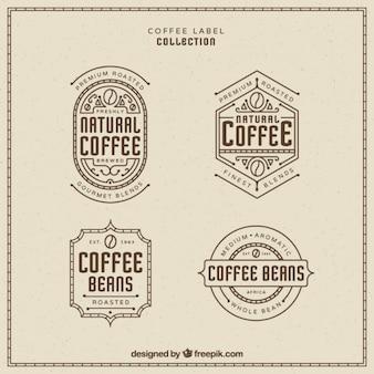 Emblemas retro do café