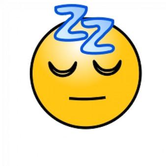emoticons: dormir cara