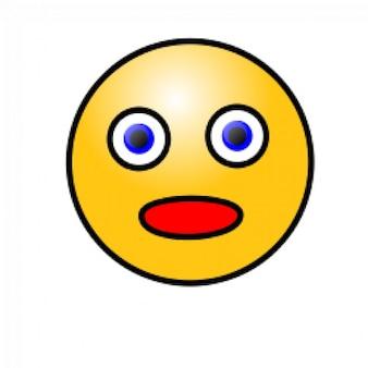 emoticons: rosto espantado
