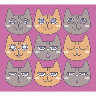 Emoticons, gatos