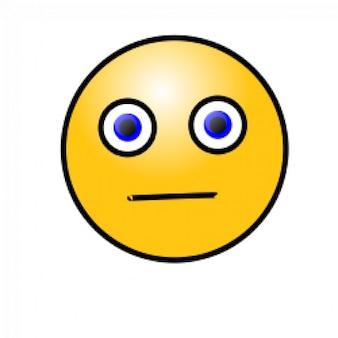 Emoticons: rosto preocupado