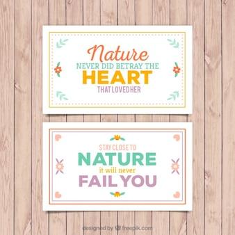 Emotive natureza cartões bonitos