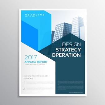 Empresa relatório anual Teamplate folheto