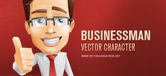 Empresário caráter vector