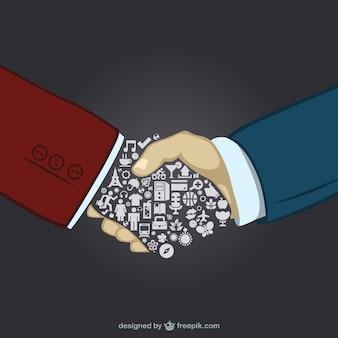 Empresários aperto de mão vetor livre