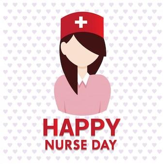 Enfermeira Cartão do dia