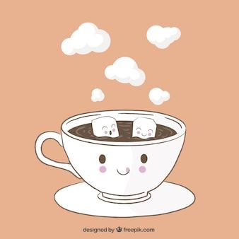 Engraçado copo de café