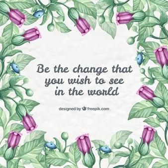 Entregue as flores desenhadas com uma frase bonita