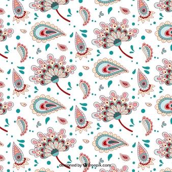 Entregue o teste padrão floral desenhado