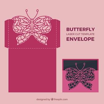 Envelope laser borboleta