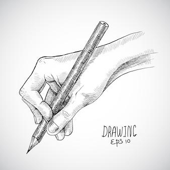 Esboço lápis de mão