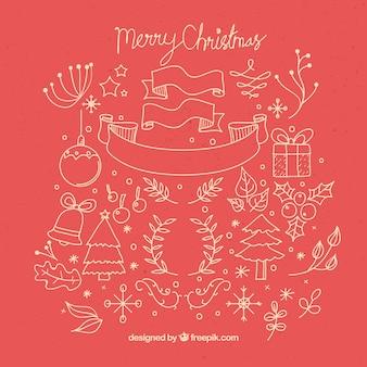 Esboços bonitas do Natal