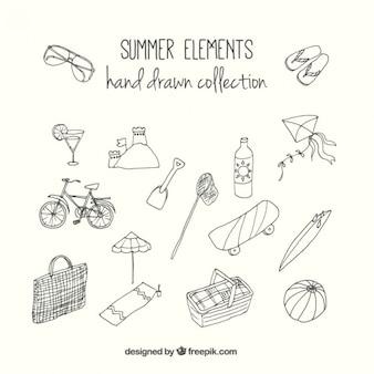Esboços de elementos de verão úteis