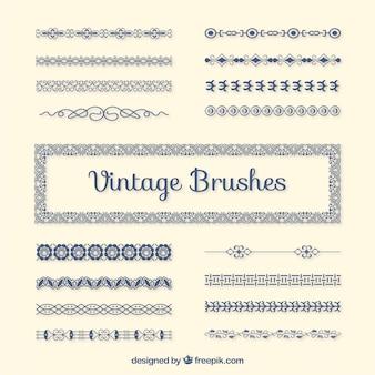 escovas Vintage embalar