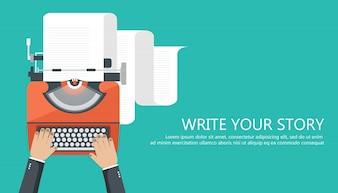 Escreva sua história