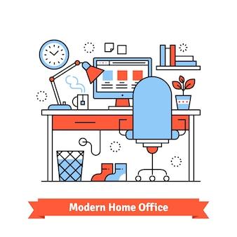 Escritório em casa moderno