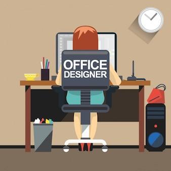 Escritório para o designer