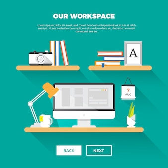 Espaço de trabalho criativo