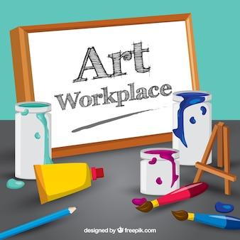 Espaço de trabalho do artista